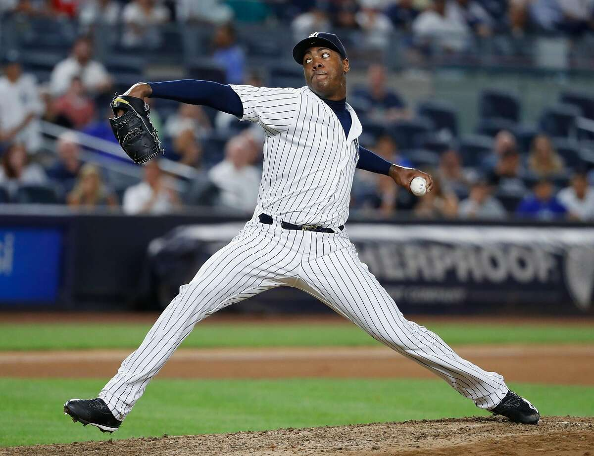 Reports suggest Aroldis Chapman will be on the move soon, but the Yankees do not seem interested in dealing him to the Giants.