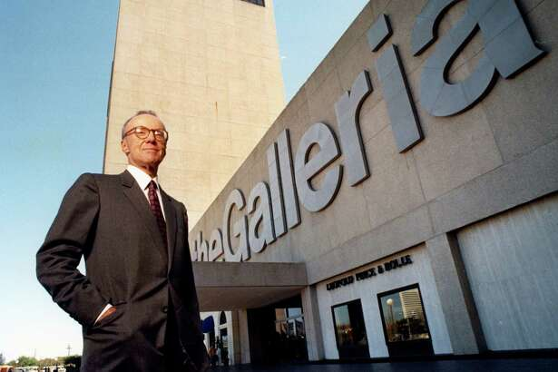 One of real estate developer Gerald D. Hines' best-known projects is the Galleria shopping mall, pictured in 1990. The mall was built on what was, at the time, prairie land on Houston's outskirts.