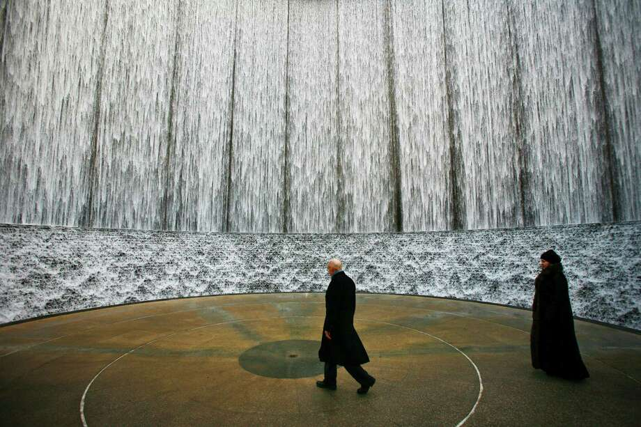 See the Hines Waterwall While everyone is shopping and sweating it out with humanity at the Galleria next door, go check out the Hines Waterwall nearby in the shadow of the Williams Tower. Read more about the tower: What is at the top of the imposing Williams Tower? Photo: Michael Paulsen, Staff / Houston Chronicle