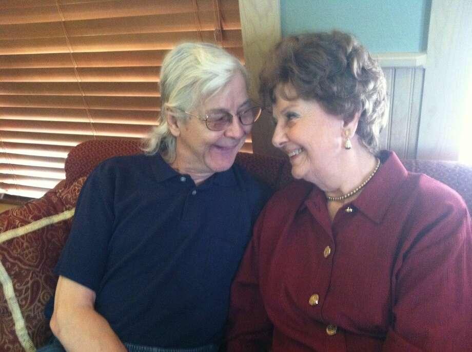 Mrs. Robert Smith Sr., 91, and son Robert Jr., both residents of Redstone Park Assisted Living Center, Brownwood.