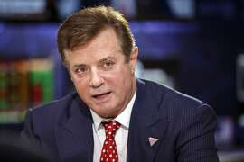 "Paul Manafort, campaign manager for Presumptive 2016 Republican Presidential Nominee Donald Trump, speaks during a Bloomberg Politics interview on the sidelines of the Republican National Convention (RNC) in Cleveland, Ohio, U.S., on Monday, July 18, 2016. Protests at the Republican National Convention will show ""lawlessness"" and ""lack of respect"" for political discourse, Manafort said. Photographer: Patrick Fallon/Bloomberg"