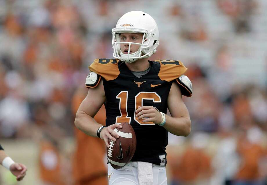 It was clearer than ever Tuesday at Big 12 media days that Shane Buechele is the man to beat for the Longhorns' starting-quarterback gig. Photo: Eric Gay, Associated Press / AP