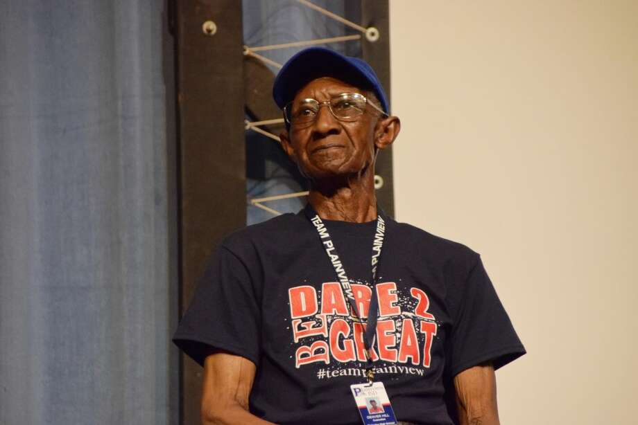 Plainview ISD Denver Hill was recognized during the PISD Convocation ceremony on Monday. Hill, a PHS custodian, will turn 90 years old in a few weeks.