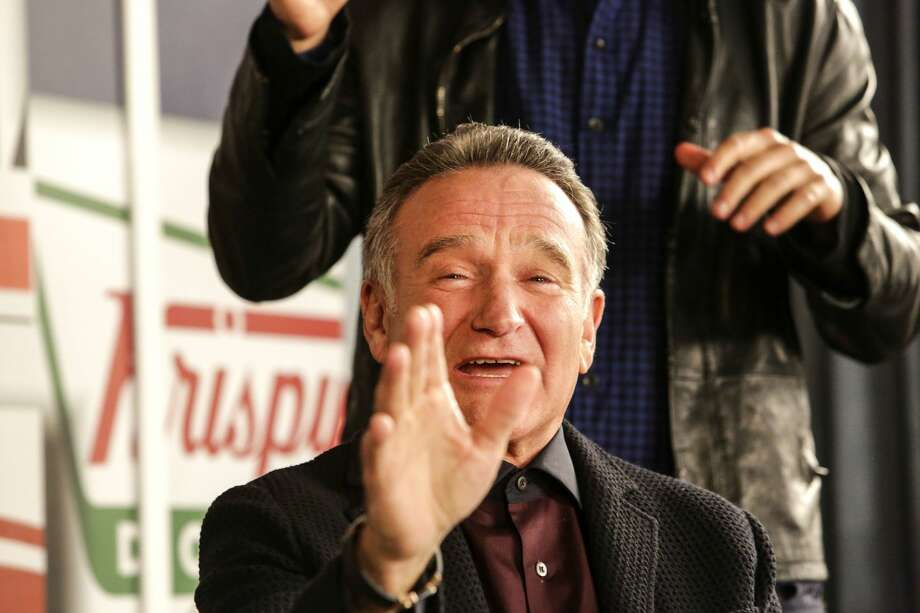 "Robin Williams died on Monday, Aug. 11, 2014. He was 63. Here, the actor is pictured on the set of ""The Crazy Ones"" at 20th Century Fox Studios in November 2013. (Ricardo DeAratanha/Los Angeles Times/MCT) Photo: MCT Photo"