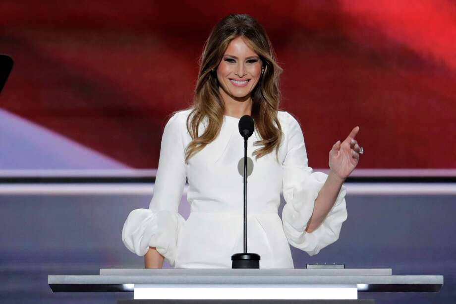 Melania Trump drew accusations of plagiarism after a Monday speech that bore close similarities to one delivered in 2008 by Michelle Obama. Photo: J. Scott Applewhite, STF / Copyright 2016 The Associated Press. All rights reserved. This material may not be published, broadcast, rewritten or redistribu