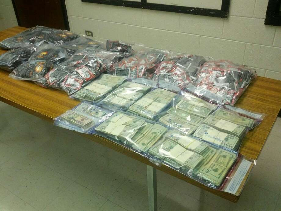 Homer Marquez/Plainview HeraldAfter a bust Wednesday evening, Plainview police were able to seize 999 bags of synthetic marijuana and more than $75,000 cash.