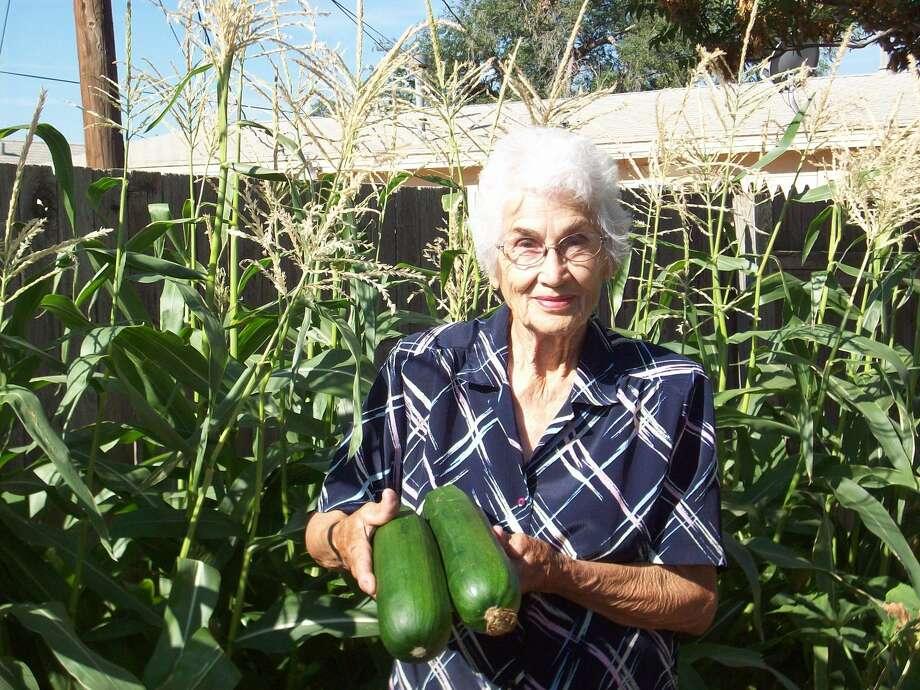 Gardening is one way Inez Hillman volunteers. Photo: RSVP   Courtesy Photo