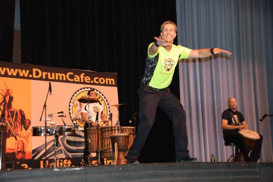 The internationally famous Drum Café performed for Plainview ISD's Convocation 2014. Photo: By Jan Seago/ Plainview ISD