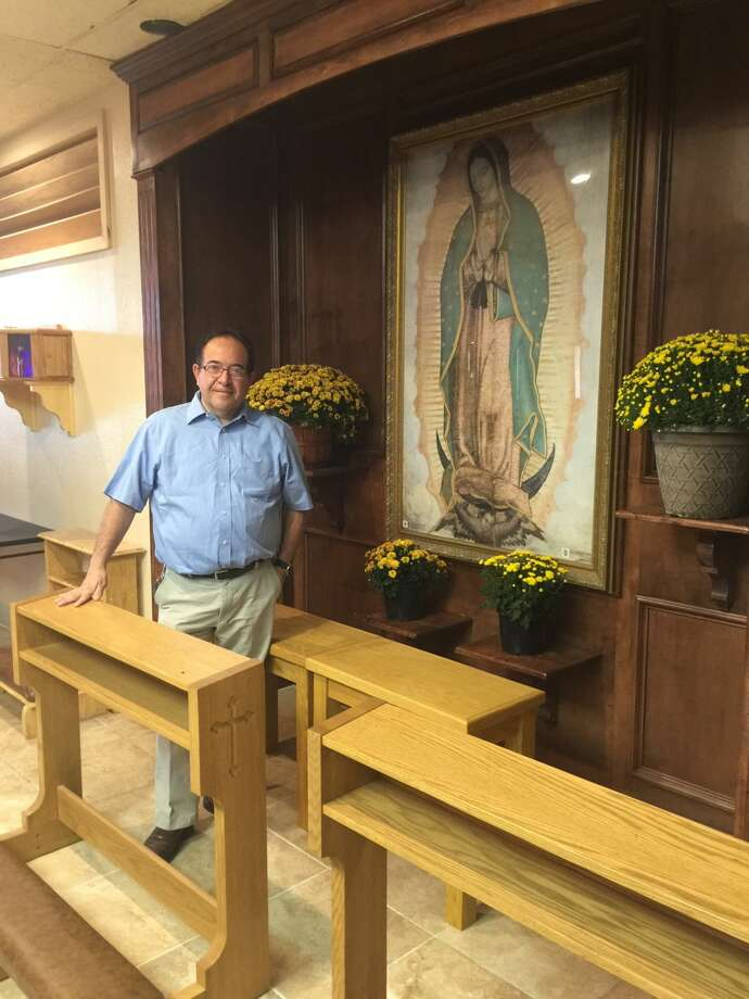 After 10 years of service in Plainview, Our Lady of Guadalupe priest Raymundo Manriquez will leave his post for a new assignment in Lubbock starting this week. Photo: Homer Marquez/Plainview Herald