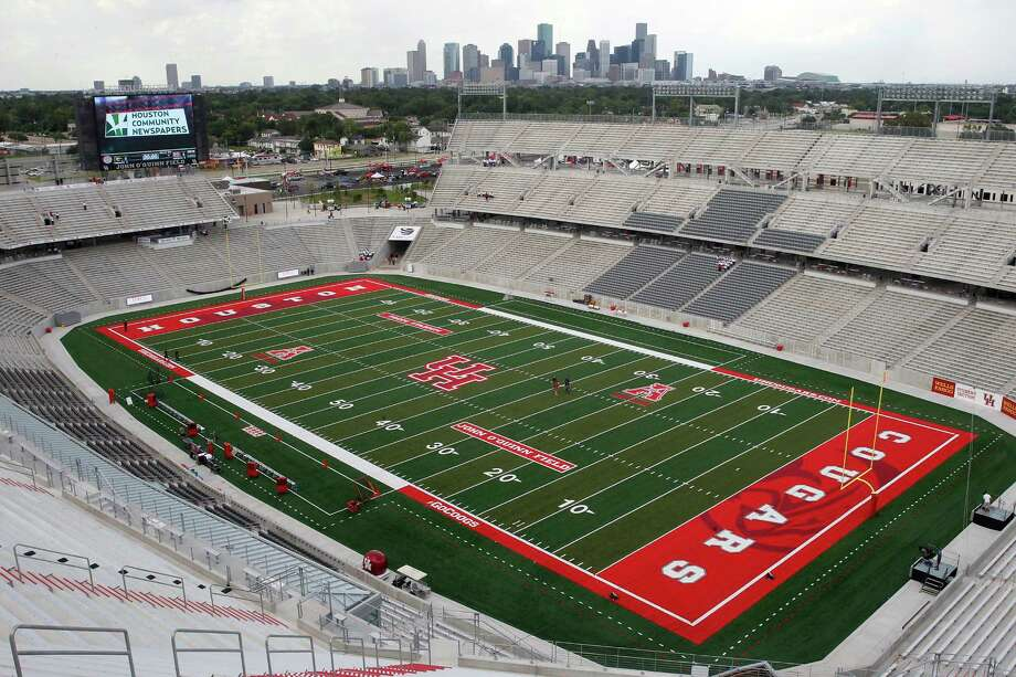 TDECU Stadium, which will be entering its third season, is one of the selling points UH will use to try to convince the Big 12. Photo: Thomas B. Shea, Freelance / © 2014 Thomas B. Shea