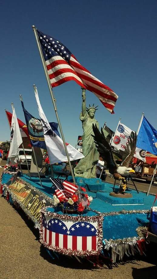 Symbols of our nation and our freedom adorn the America Supports You Texas float that will be part of the Cowboy Days Parade on Sept. 20. Photo: Courtesy Photo