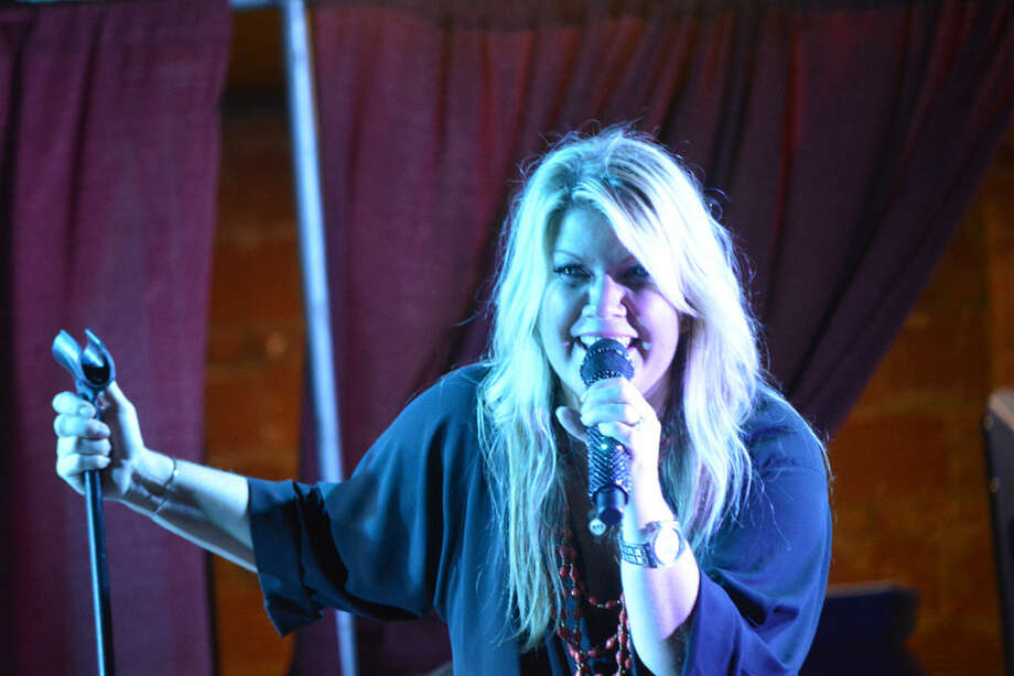 Natalie Grant shows sparkle during one of her lighter songs. Photo: Doug McDonough | Plainview Herald