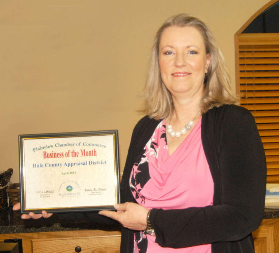Nikki Branscum, chief appraiser, represents the Hale County Appraisal District, 302 W. Eighth, as the Chamber of Commerce's Business of the Month for April. The creation of central property appraisal districts were authorized by the Texas Legislature through SB 1621 in 1979. Branscum has been with the local appraisal district for 31 years, initially in 1982 as the administrative assistant to the district's first Chief Appraiser Larry Hamilton. She became a residential appraiser in 1986 and was named chief appraiser in 2002 upon the resignation of Linda Jaynes. The local office has a 10-member staff. Photo: Doug McDonough/Plainview Herald