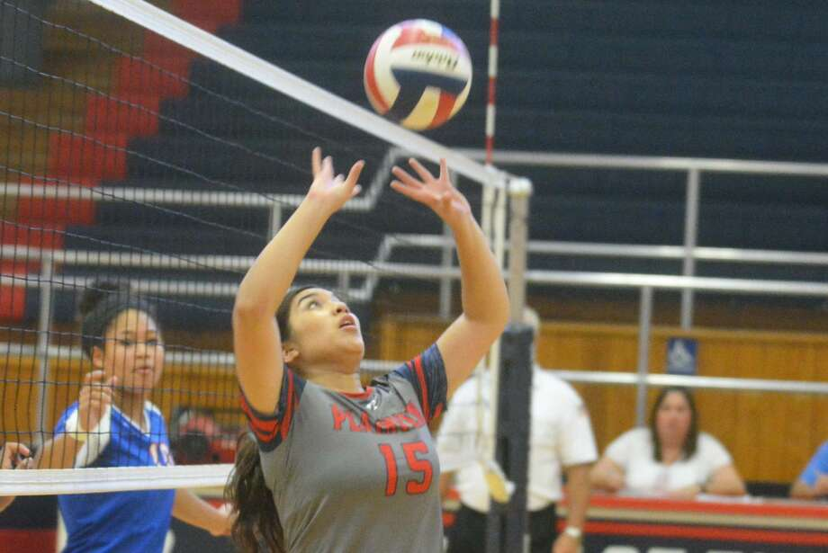 Plainview setter Lori Gonzalez will be one of four Lady Bulldogs playing their final regular-season and home matches Friday. The other seniors are Kaitlynn Sigala, Mariah Hernandez and Brittany Hernandez. Win or lose against Lubbock Cooper Friday, Plainview will still be in the running for a postseason playoff berth. Photo: Skip Leon/Plainview Herald