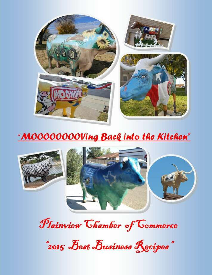 "Courtesy Photo/Chamber of Commerce Shown is the planned cover for the Chamber of Commerce cookbook ""Moooooving Back into the Kitchen: Plainview Chamber of Commerce 2015 Best Business Recipes."" For its first-ever cookbook project, the Chamber plans to collect recipes from members."