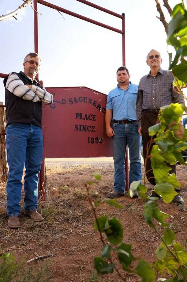 After great-grandfather J.F. Sageser homesteaded outside of Cotton Center, five generation of Sagesers have farmed that land including Chris Segeser, Jay Ray Segeser and Jack Segeser. Photo: Courtesy Photo