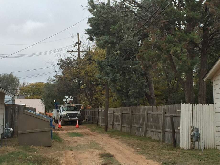 Alley way stalemate over tree trimming