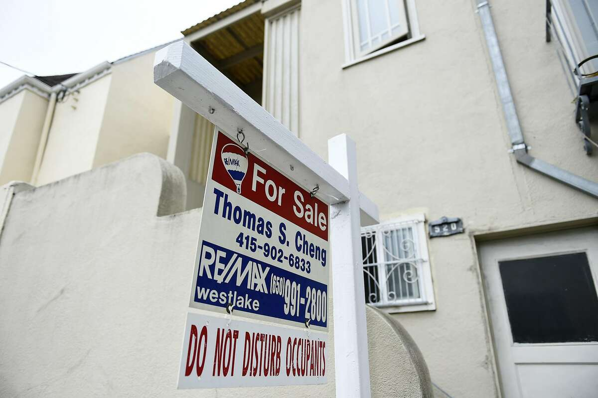 A home for sale on Goettingen St. on Tuesday, July 19, 2016 in San Francisco, California.