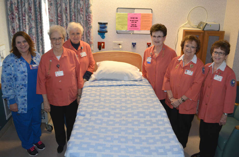 A new birthing bed, funded from proceeds of Covenant Health Plainview Auxiliary's annual Christmas Card Project, was delivered and installed this past week. Gathering around the new bed are Michelle Williams, left, Covenant's nurse manager for Women's Services, with Auxiliary officers Rose Ann Bailey, Sally Phillips, Janice Posey, Nancy Bowden and Sammie Roberts.
