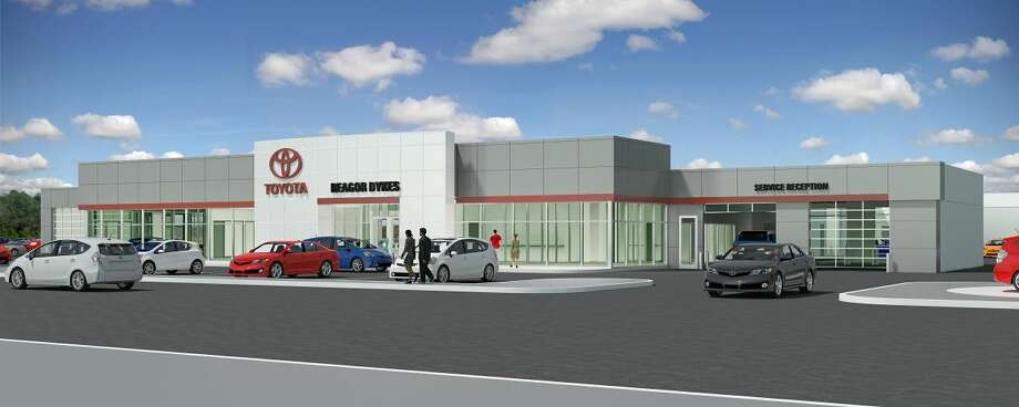 Courtesy IllustrationAn architect's rendering shows the new Reagor-Dykes Toyota dealership that will be built at 1220 S. I-27 in Plainview, north of Bartley Funeral Home. Groundbreaking for the new, modern full-service dealership is set for 3 p.m. Monday.