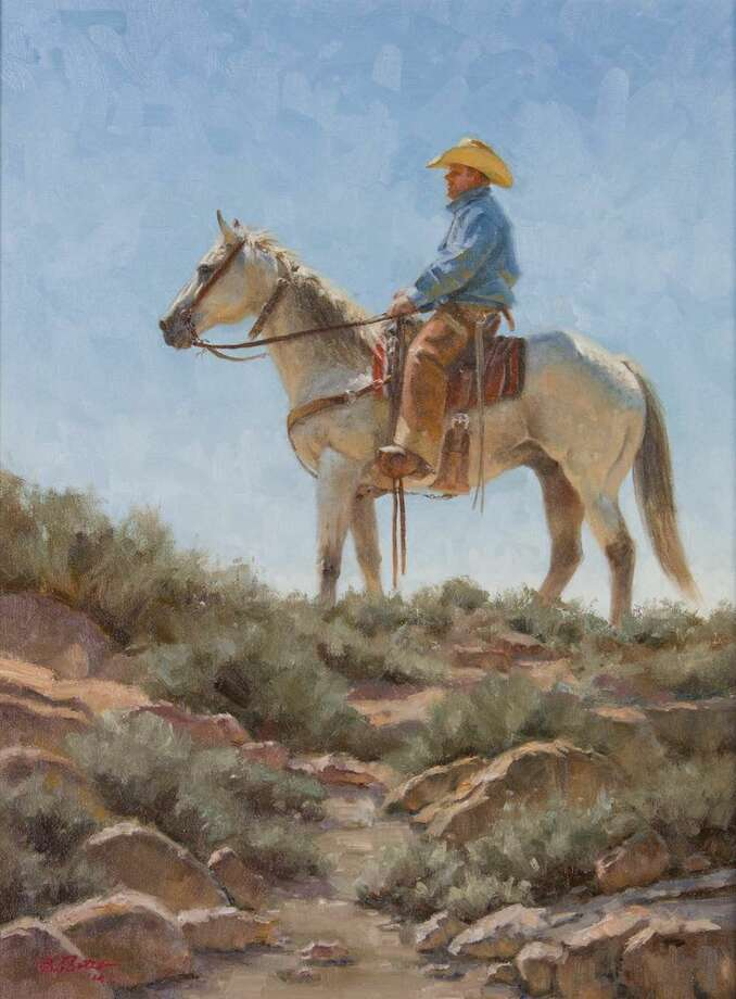 """""""Sentinel"""" is by Edgar Sotelo, one of the American Quarter Horse Association's signature artists for the year, who is also participating in the educational field trip. Photo: Courtesy Photo"""