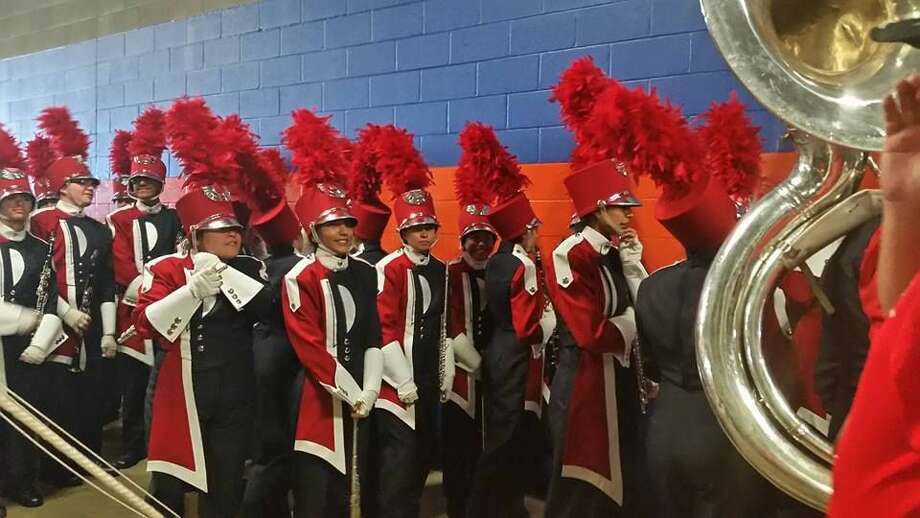 The Powerhouse of the Plains band prepares to take to the field during the 5A UIL State Marching Contest inside the Alamodome in San Antonio. Photo: Photo Courtesy Amy Ratliff