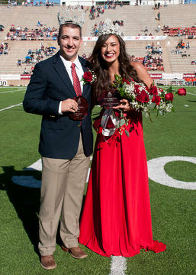 Brent Turner and Brianna Griswold were named West Texas A&M University's 2014 Homecoming King and Queen during halftime of the Buffs football game against McMurry University on Oct. 4. Courtesy photo