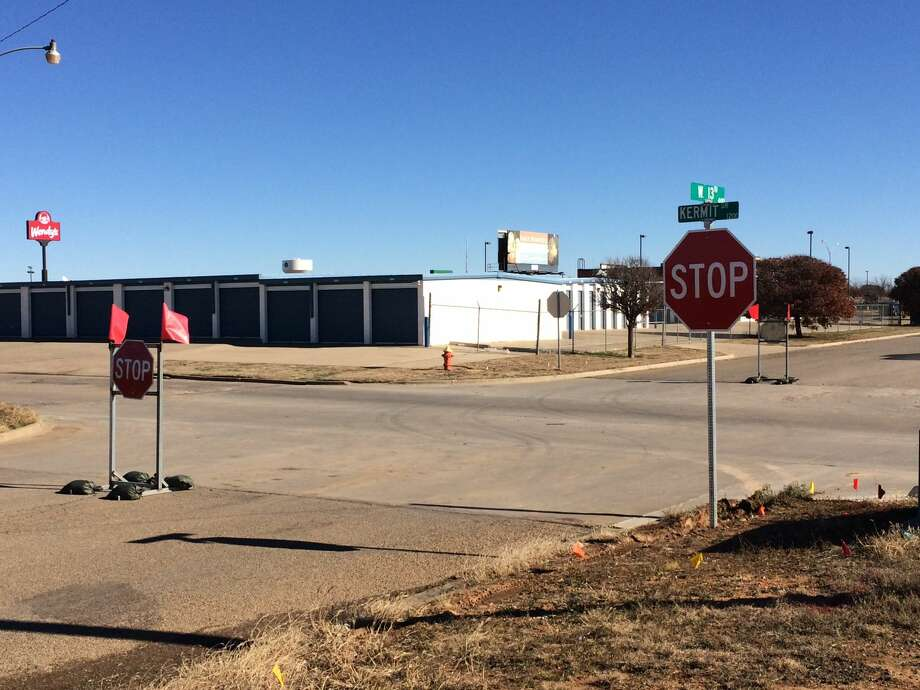 A new set of stop signs change traffic flow at the intersection of 13th and Kermit Streets. Photo: Courtesy Photo