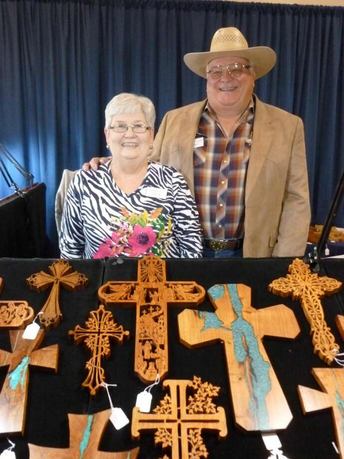 Patsy and Wayne Williams will show their custom crosses at the 40th Running Water Draw Arts & Crafts Festival for the first time this weekend. Photo: Courtesy Photo