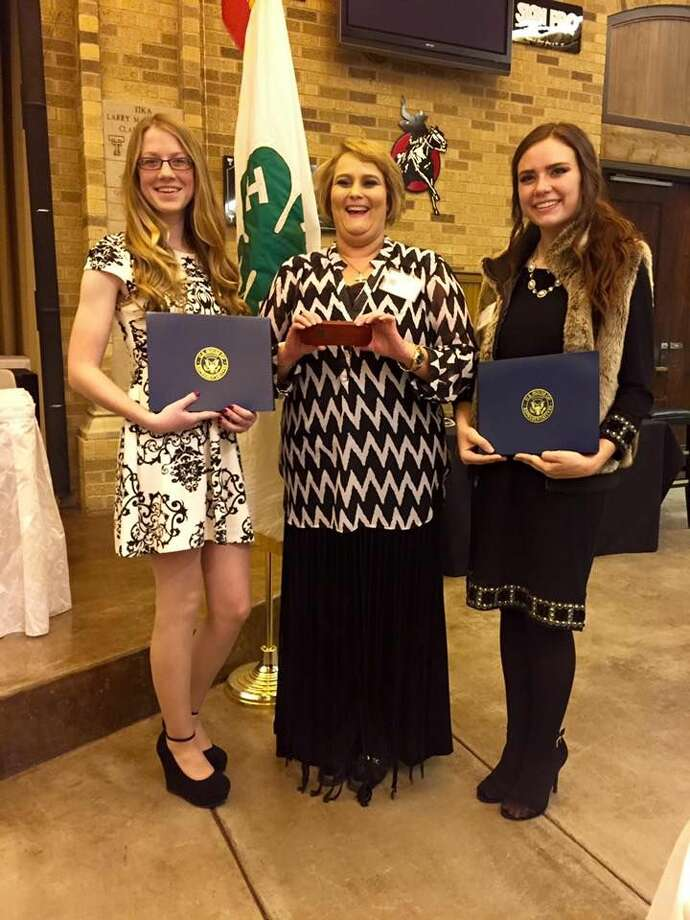 Three individuals from Hale County were recognized at the annual District 2 Gold Star Banquet in Lubbock on Nov. 23. They are Gold Star winners Colti Wright (left) and Abbey Maresca (right) and Julie White (center), Distinguished Leader Award recipient.