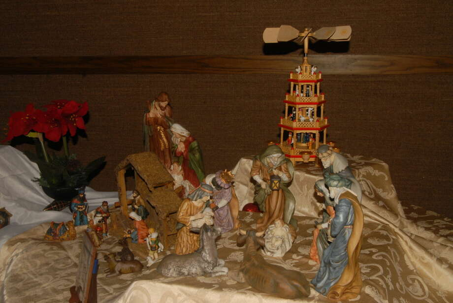 An exhibit room filled with nativity scenes is ready for visitors at the second annual Plainview Community Nativity Exhibit today and Saturday. Photo: Homer Marquez/Plainview Herald