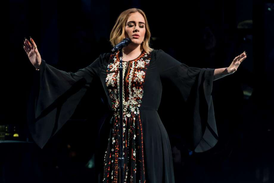 Adele performs on The Pyramid Stage on day 2 of the Glastonbury Festival at Worthy Farm, Pilton on June 25, 2016 in Glastonbury, England. Photo: Ian Gavan, Getty Images