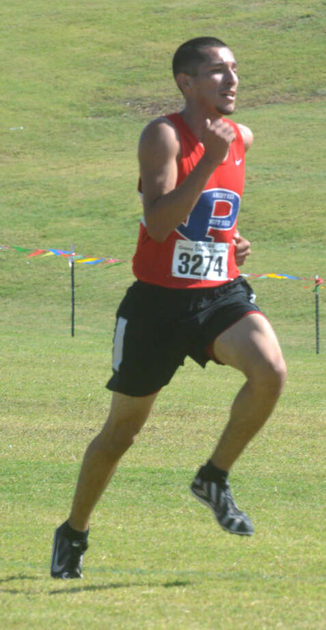 Plainview's Jarel Rosas races to victory at the District 4-5A meet last week. Rosas and his teammates will seek to qualify for the state meet when they compete at the Region I-5A meet at Mae Simmons Park in Lubbock Friday afternoon. Photo: Skip Leon/Plainview Herald