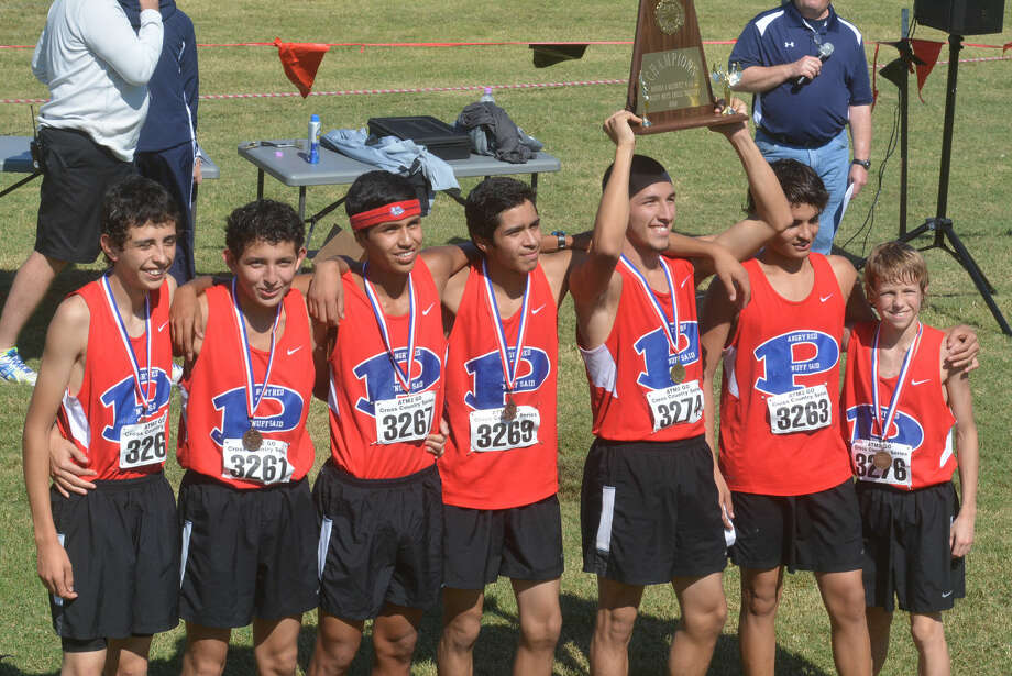 The Plainview boys cross country team is set to compete at the UIL state meet for the first time in school history at Old Settlers Park in Round Rock Saturday. Race time is noon. The team consists of seniors Jarel Rosas and Christian Garcia, juniors Ricardo Flores and Luis Castro, sophomore Roy Acosta, and freshmen Sergio Lara and Hunter Thomas. The alternate is sophomore C.J. Castro. Photo: Skip Leon/Plainview Herald