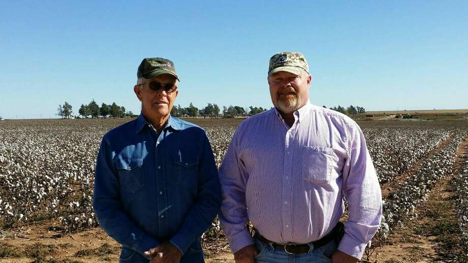 Courtesy PhotoFather Jim Byrd and son Chad continue nearly 100 years of farming in the Petersburg area.