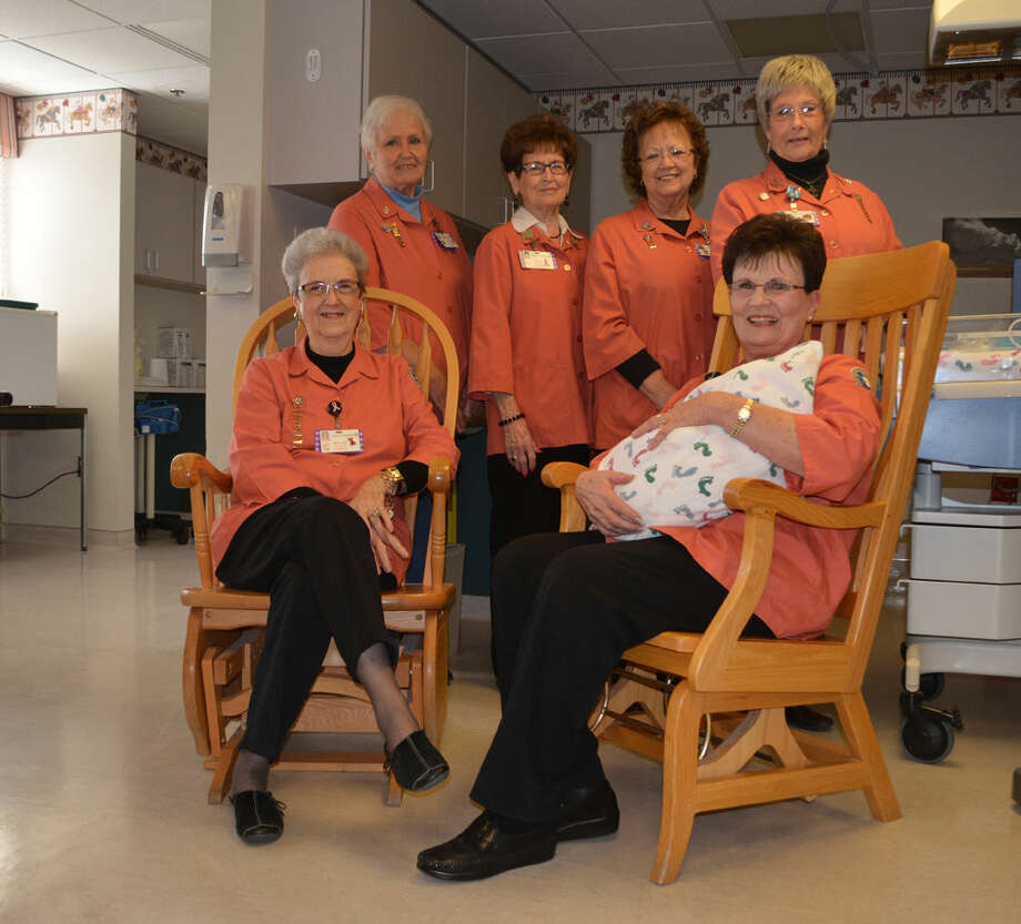 Doug McDonough/Plainview HeraldToday's hospital-grade gliders are not your grandmother's rocking chair, but they still provide many of the same health benefits. From this year's Christmas Card Greeting Page fundraiser, Covenant Health Auxiliary will be funding the purchase of glider rockers for pediatric and surgical patients as well as the nursery. Demonstrating two rockers already in the nursery are Auxiliary officers Rose Ann Bailey (seated left), Janice Posey, Sally Phillips (standing left), Sammie Roberts, Nancy Bowden and Gail Thrasher.