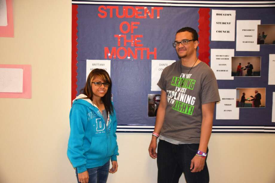 Courtesy PhotoHouston School Students of the Month for October are Brittany Arredondo and Danté Odums. The pair was selected for the honor by the Houston School staff.