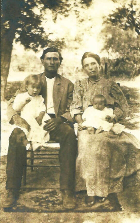 Pam Shackelford's second-great-grandparents: John G. Irwin (1827-1867) and wife Emily Elizabeth Couch Irwin (1833-1903) along with children, John Chadbourne Irwin and Rachel Irwin. John Chadbourne Irwin was Shackelford's great-grandfather. Photo: Courtesy Photo