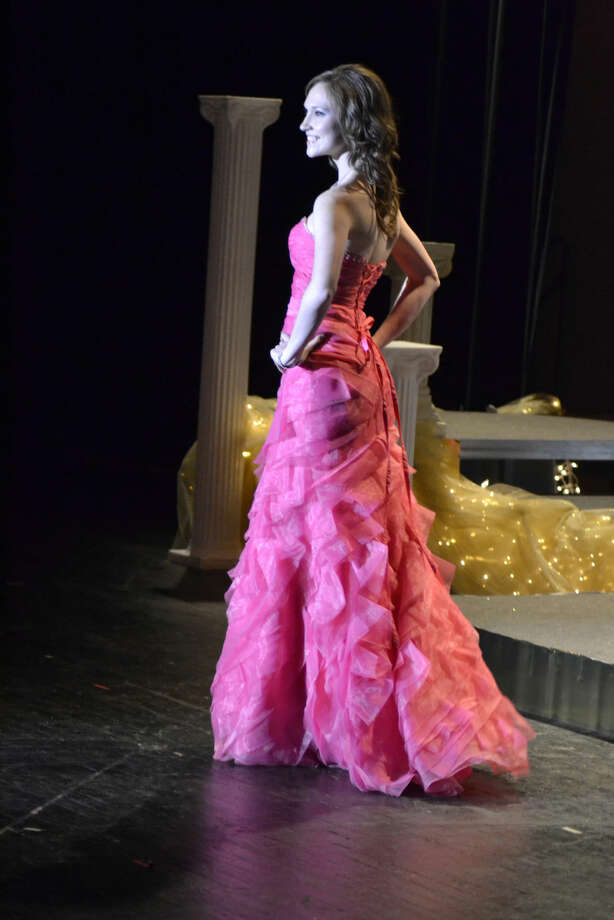 Kelsi Crawford of Ranger, Texas, poses in evening gown during Wayland Baptist University's 2015 scholarship pageant. She was crowned as the pageant winner Saturday, Nov. 15. Photo: Courtesy Photo | WBU