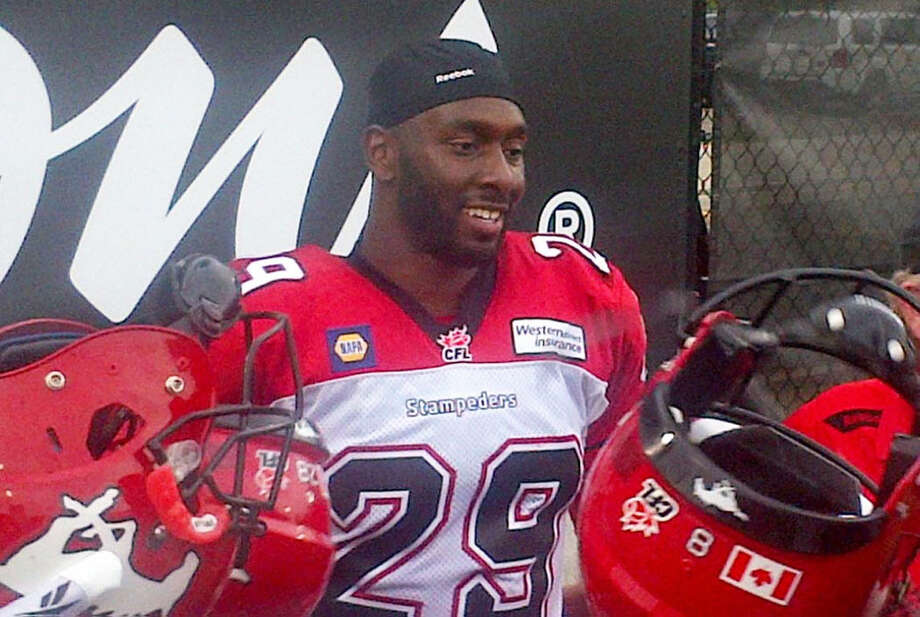 Former Plainview High and Texas Tech football standout Jamar Wall is a champion in the professional ranks. Wall helped the Calgary Stampeders to a 20-16 victory in the Grey Cup Sunday. The Grey Cup is the Canadian Football League's equivalent of the NFL's Super Bowl. Wall made four tackles in the game. Photo: Calgary Stampeders Photo