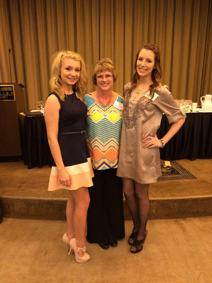District 2 4-H winners were recently honored at the Gold Star and Distinguished Leader Banquet. Shown are Kennady Johnson (left), Gold Star winner; Angie Sullivan, Distinguished Leader; and Shalin Lawson, Gold Star winner. Photo: Courtesy Photo