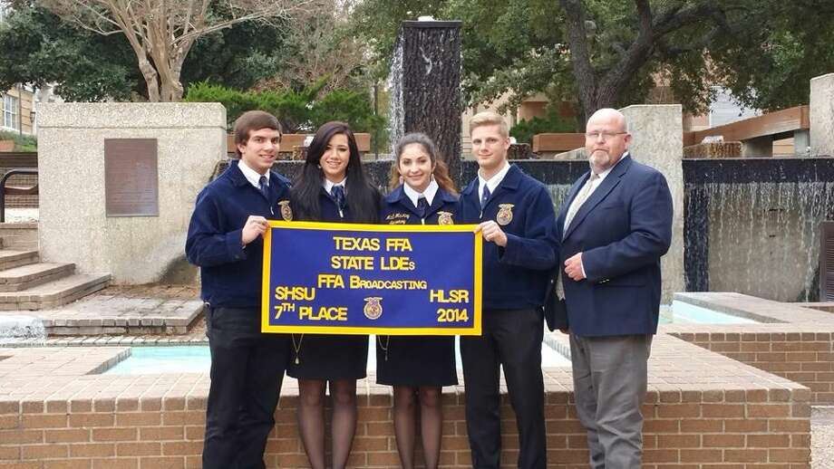 Courtesy PhotoMembers of the Plainview FFA Chapter traveled to Huntsville Dec. 5-6 to compete in Texas FFA's Leadership Career Development Events. Plainview FFA placed seventh in the State FFA Radio Broadcasting. Team members are Mikey Ditmore (left), Miranda Hastey, Madi McKay, Ethan Earhart and FFA Adviser Rick McKay. Plainview's Radio Broadcasting team qualified for the state competition by finishing in the top two in both district and area contests. In all, there were 647 radio teams in Texas this year. A total of 5,637 entries began the statewide-tournament in 13 different events, which reflect classroom instruction in basic leadership skills.
