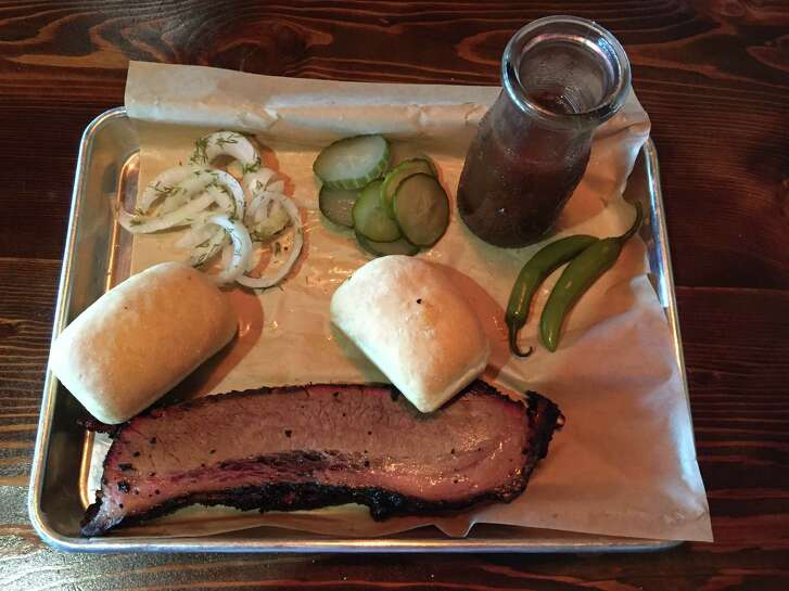 Brisket platter with the fixings at The Well.
