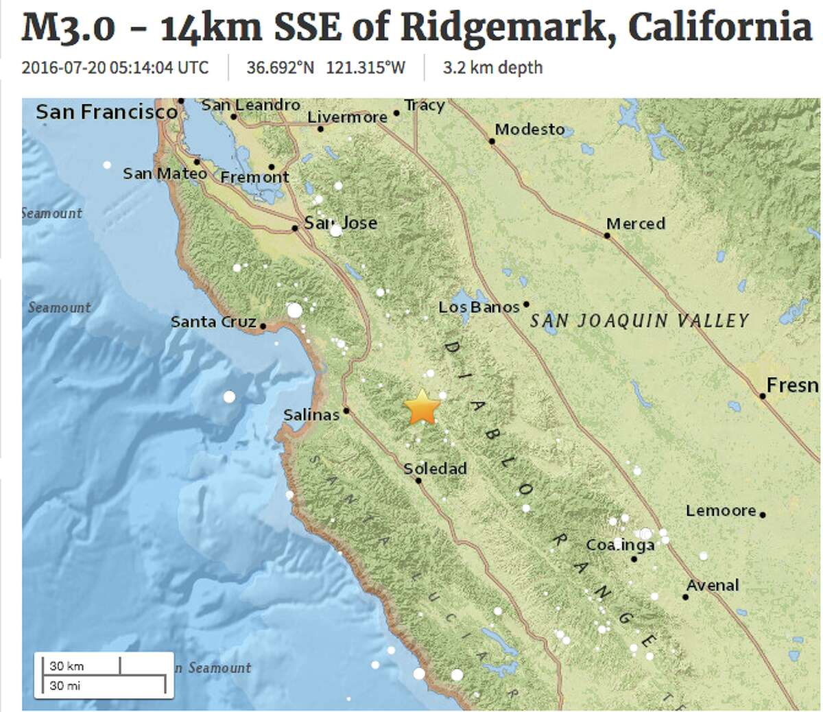 An earthquake swarm continues in the South Bay area near Hollister.