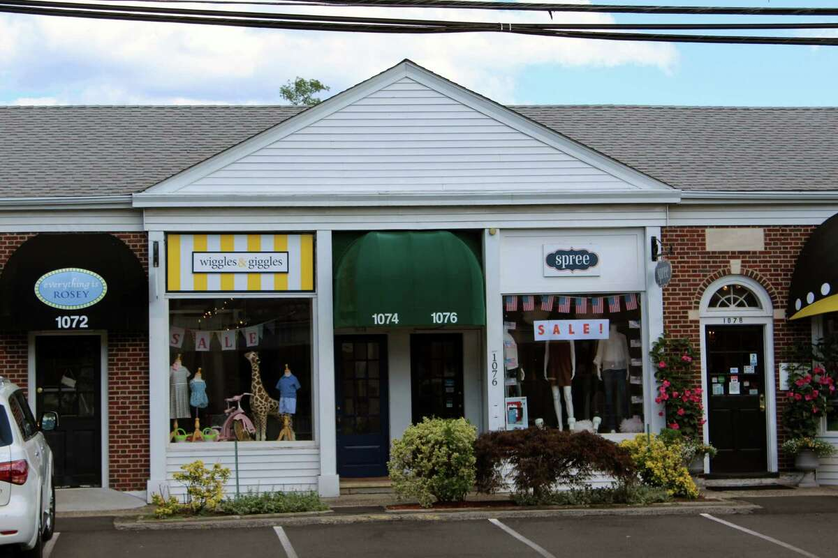 Everything is Roey, Wiggles and Giggles and Spree line a stretch of Post Road in downtown Darien.