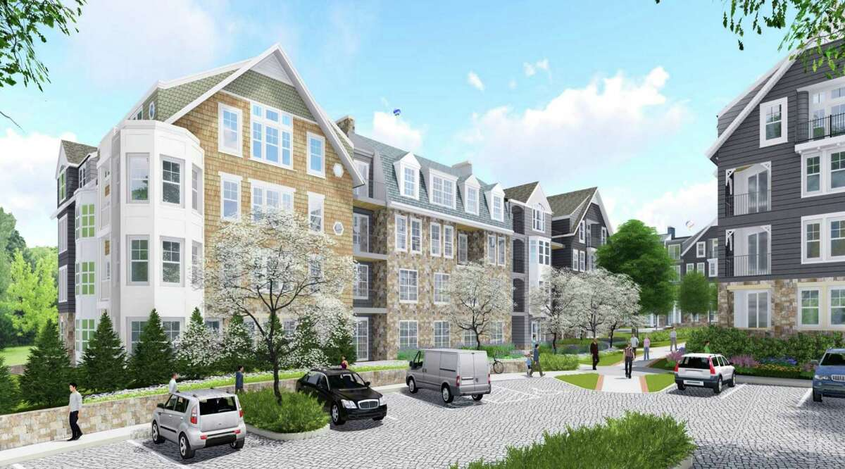 New Canaan-A rendering of the proposed Merritt Village apartments as of July 19, 2016.