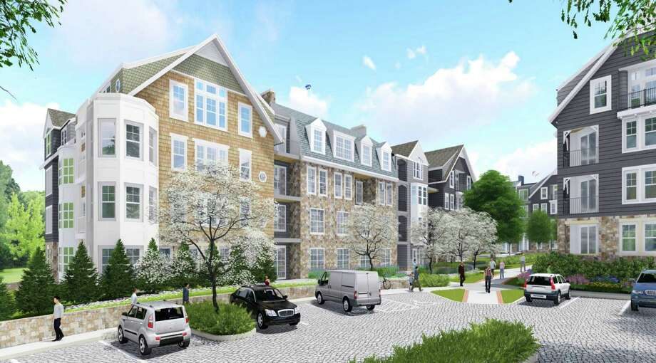 New Canaan-A rendering of the proposed Merritt Village apartments as of July 19, 2016. Photo: Contributed Photo / Hearst Connecticut Media / New Canaan News