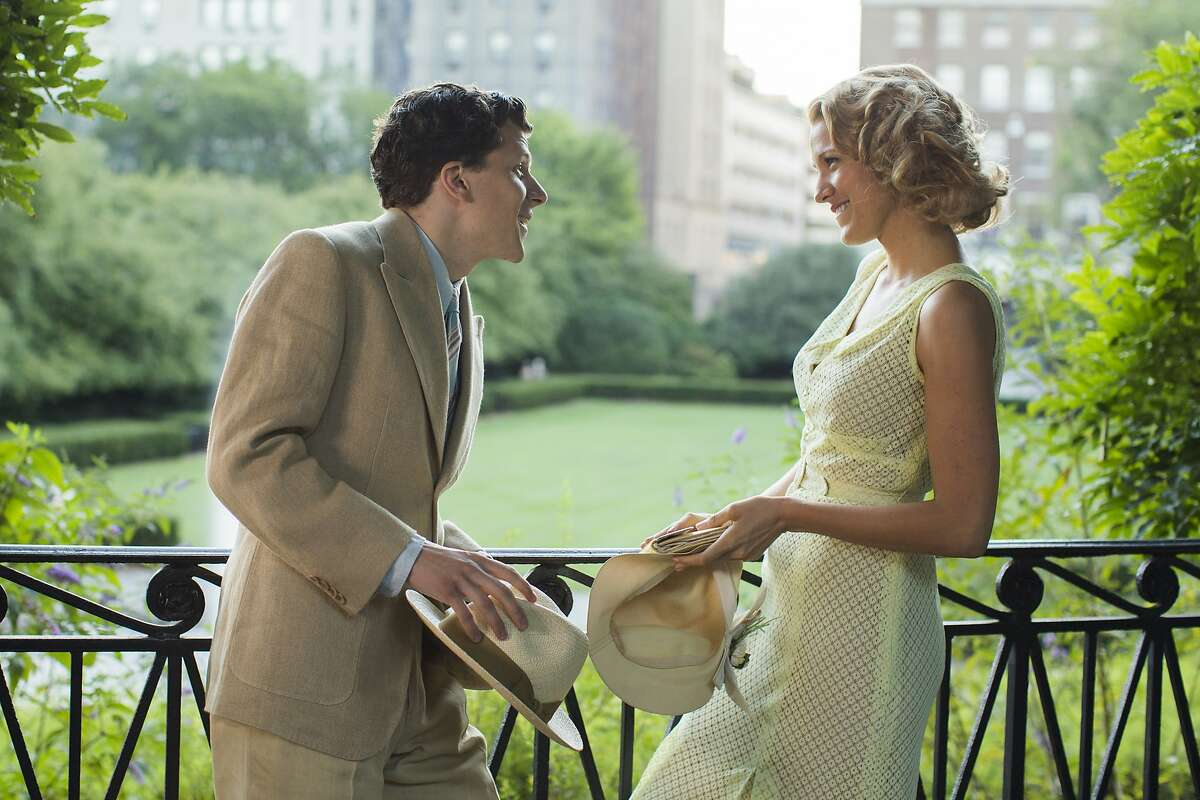 """Jesse Eisenberg, left, and Blake Lively in a scene from """"Cafe Society."""""""