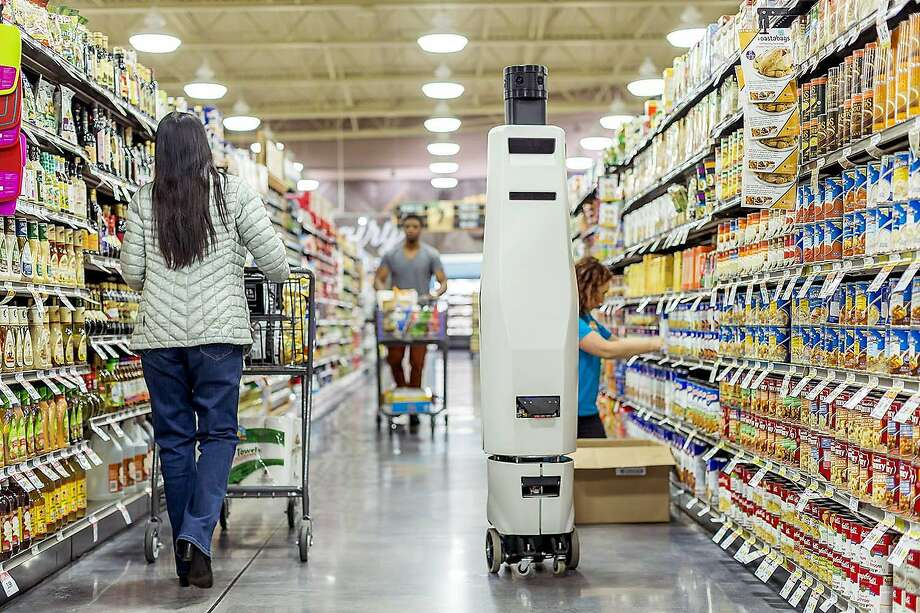 An inventory checker from Bossa Nova Robotics is among practical application of artificial intelligence. Photo: HANDOUT, NYT