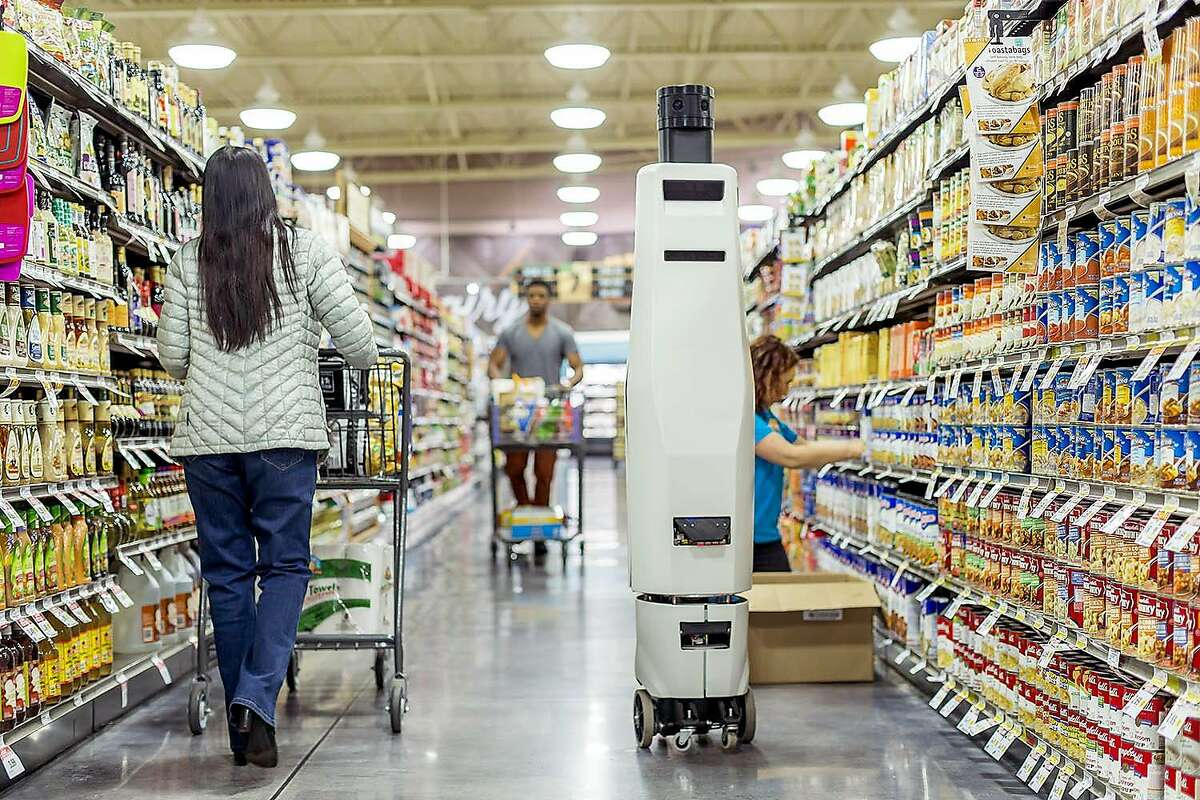 In an undated handout photo, Bossa Nova Robotics' prototype inventory checker in a store. The new era in Silicon Valley centers on artificial intelligence, a transformation that many believe will have a payoff on the scale of the personal computing industry or the commercial internet. (Handout via The New York Times) -- NO SALES; FOR EDITORIAL USE ONLY WITH STORY SLUGGED ARTIFICIAL BY JOHN MARKOFF. ALL OTHER USE PROHIBITED. --